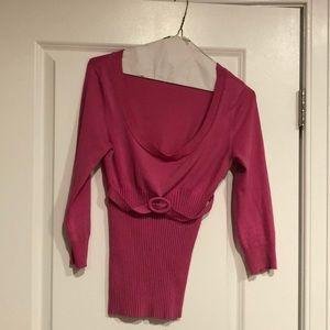 Pink cache light sweater top